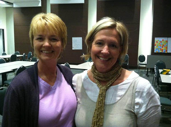 With Brené Brown at National Training in 2012 - Houston, Texas